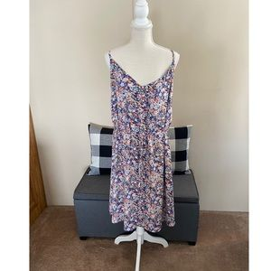 Loft Plus Blue Floral Dress Size 22